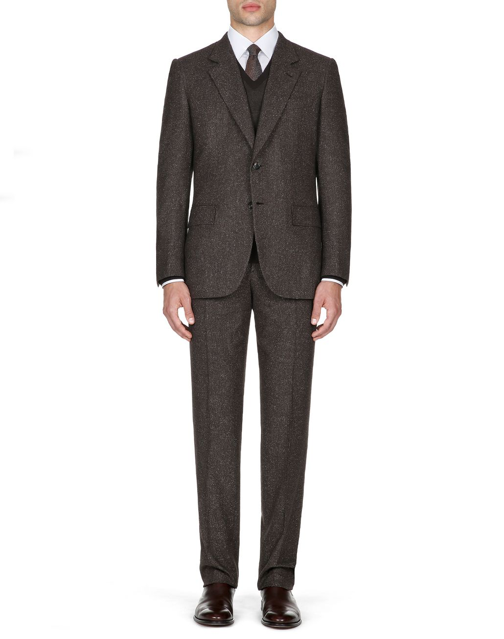 BRIONI Abito Parioli Marrone Scuro   Suits & Jackets Uomo r
