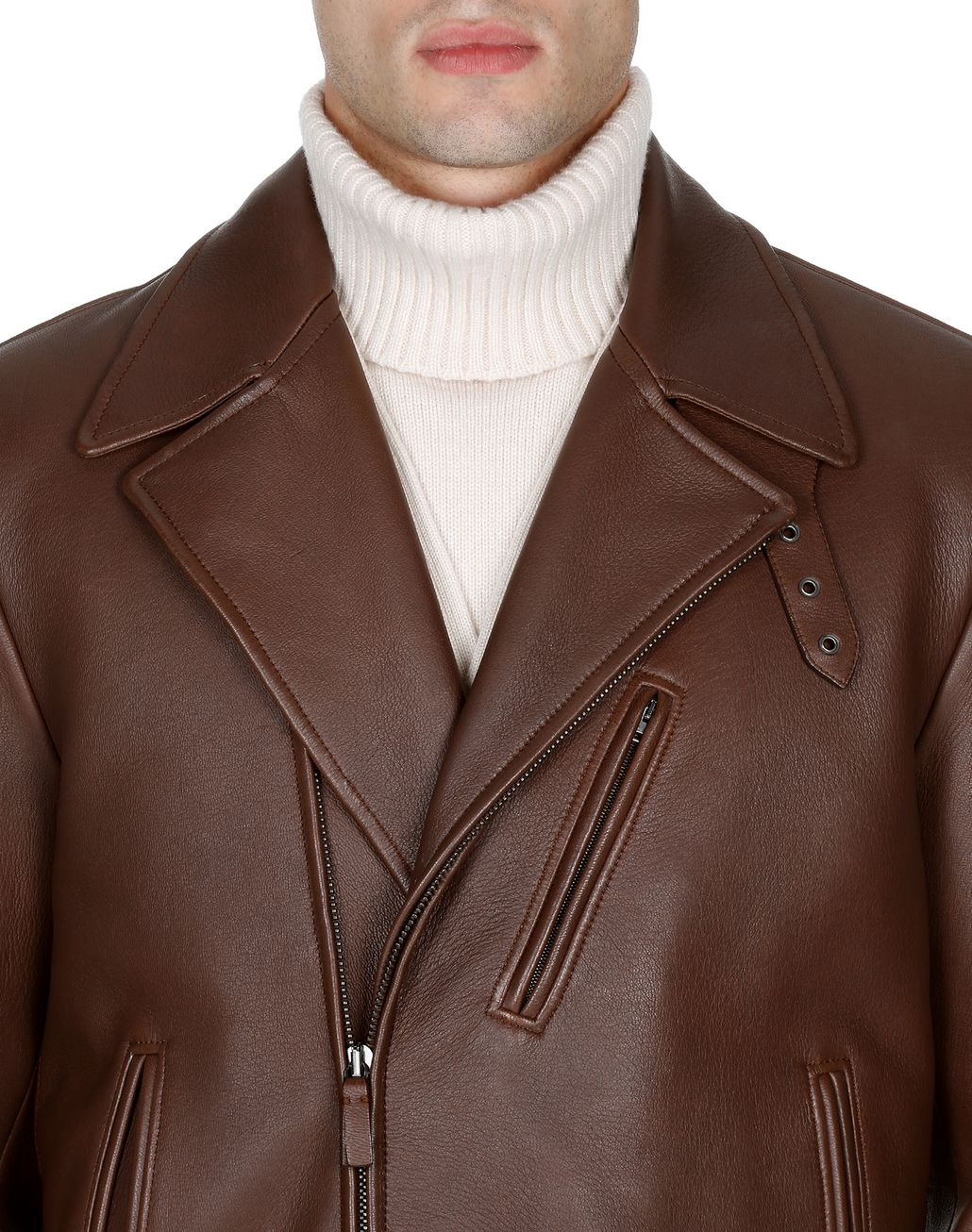 BRIONI Havana Elk Perfect Jacket   Outerwear Man e