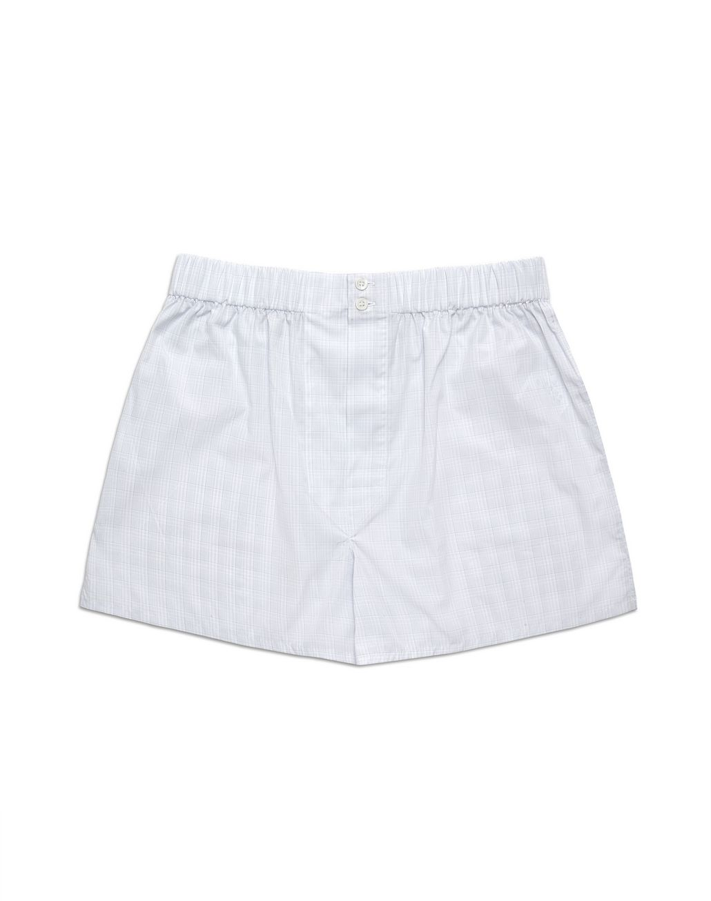 BRIONI Bluette and White Plaid Underwear Underwear Man f