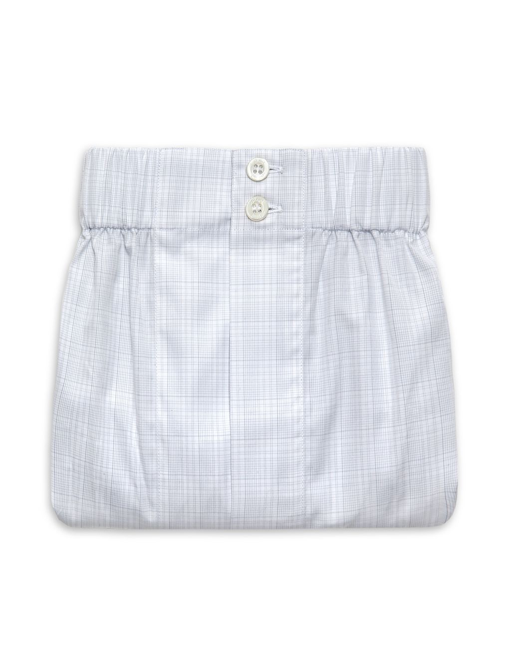 BRIONI Bluette and White Plaid Underwear Underwear Man r