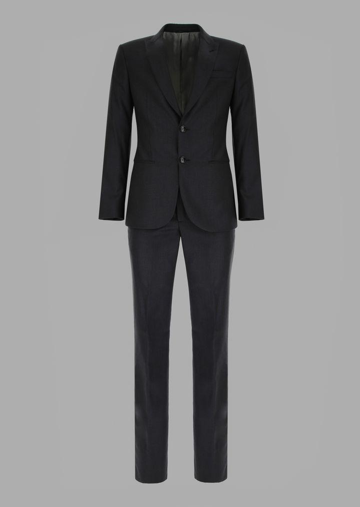 2f2d7f35e8f Slim-fit half-canvas microcheck twill Soho suit