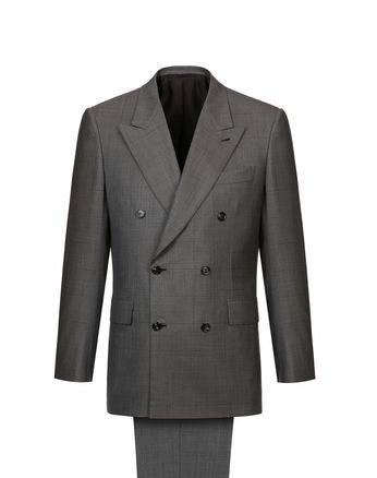 Grey Parioli Double Breasted Suit