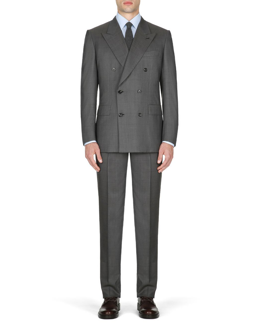 BRIONI Gray Parioli Double-Breasted Suit    Suits & Jackets Man r