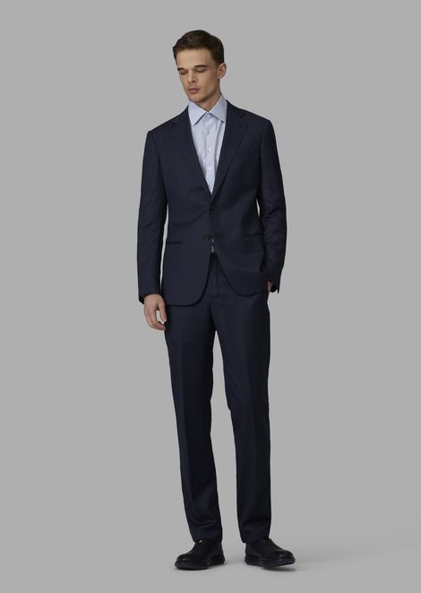 be145a77c78a47 Slim-fit half-canvas twill blend Soho suit