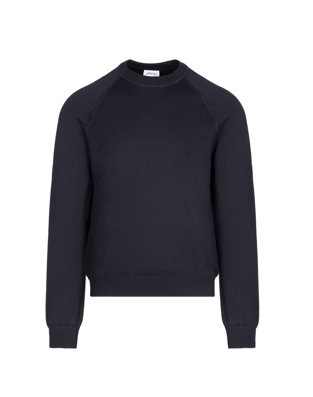 BRIONI Navy Blue Crew Neck Sweater Knitwear [*** pickupInStoreShippingNotGuaranteed_info ***] f