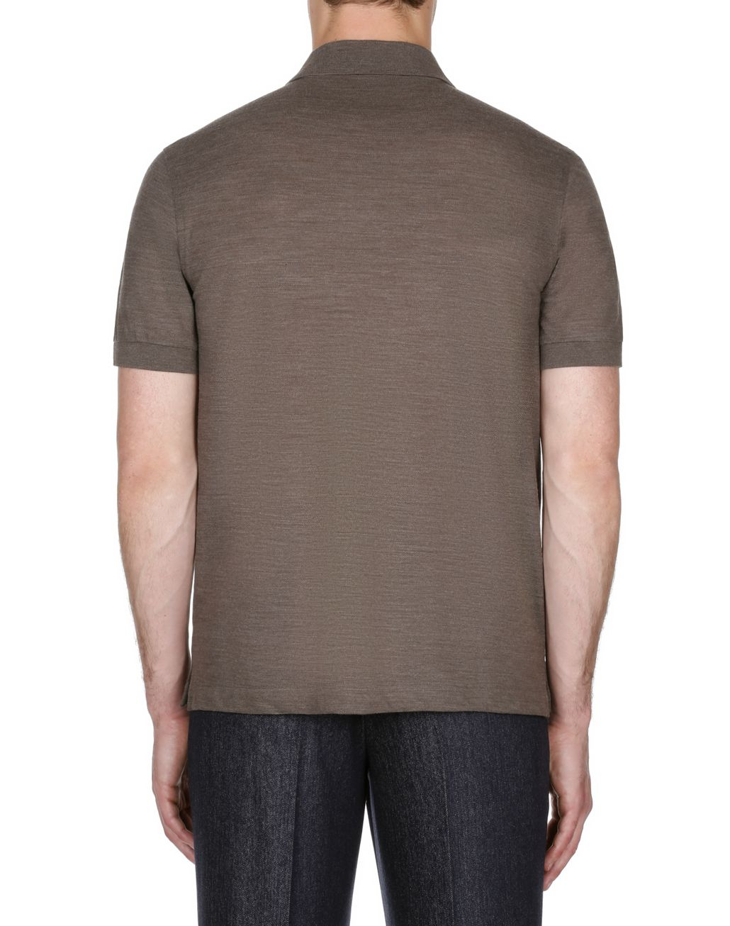 BRIONI Brown Zipped Polo Shirt T-Shirts & Polos Man d