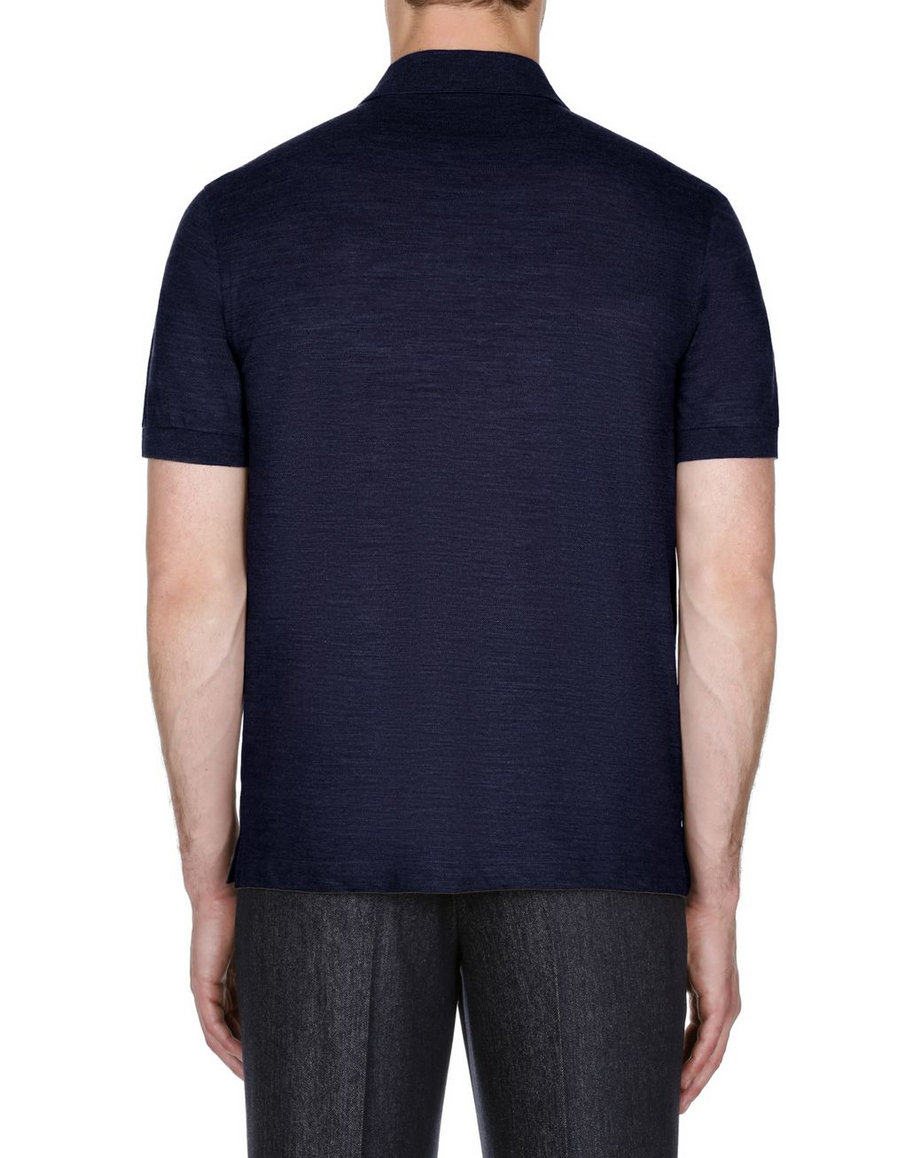 BRIONI Navy Blue Zipped Polo Shirt T-Shirts & Polos Man d