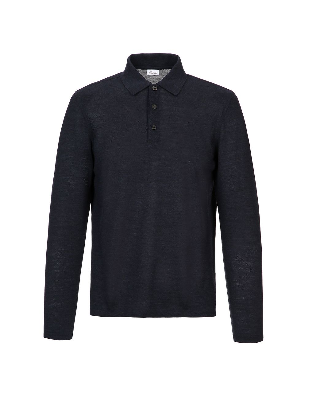 BRIONI Navy Blue Long Sleeves Polo Shirt T-Shirts & Polos Man f