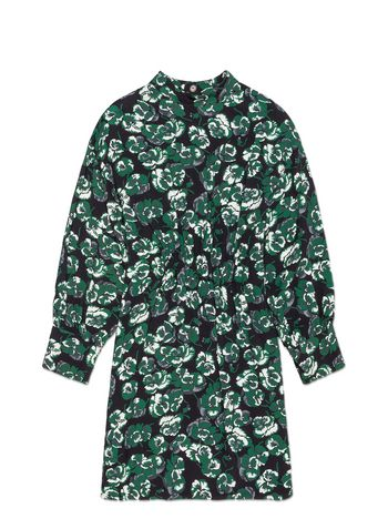 Marni LONG-SLEEVED VISCOSE DRESS WITH POETRY FLOWER PRINT Woman