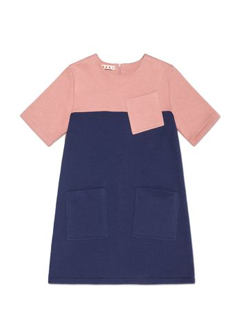 Marni SHORT-SLEEVED COLOR BLOCK COTTON DRESS  Woman