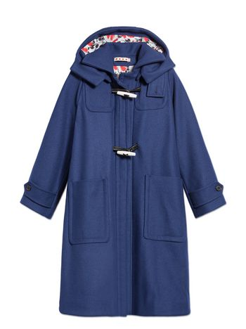 Marni WOOL COAT WITH A-LINE SILHOUETTE Woman