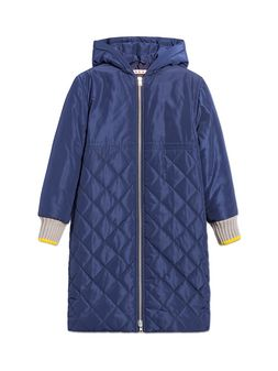 Marni BLUE QUILTED JACKET WITH HOOD Woman