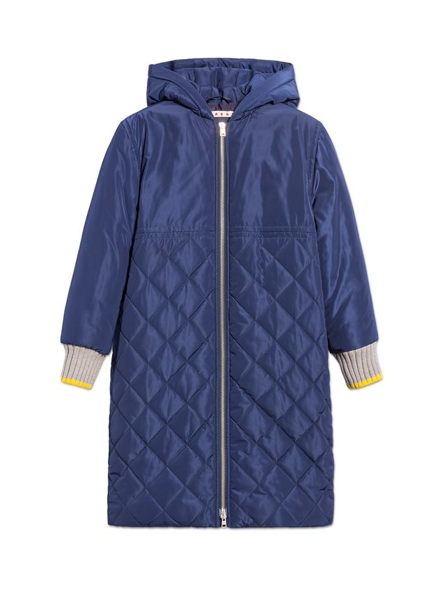 Marni BLUE QUILTED JACKET WITH HOOD Woman - 1