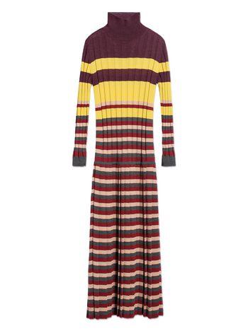 Marni STRIPED WOOL DRESS  Woman