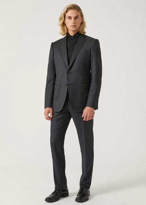 ffa157d3a448 Costume coupe moderne en pure laine vierge avec veste droite