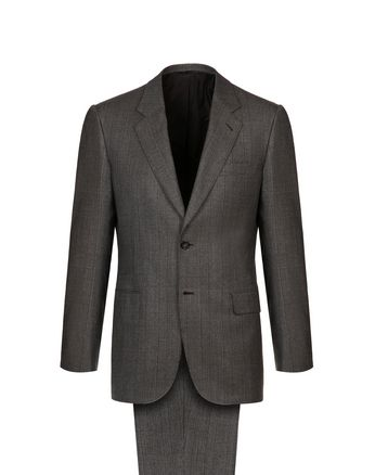 Light Brown Plaid Parioli Suit