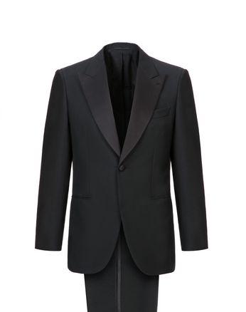 Чёрный костюм Parioli со смокингом