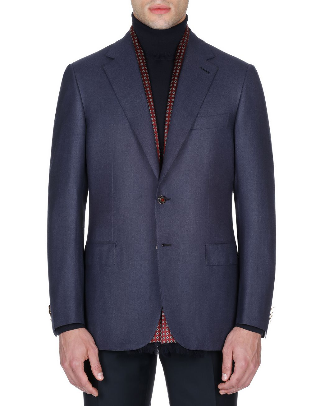 BRIONI Navy Blue Ravello Jacket Suits & Jackets Man r