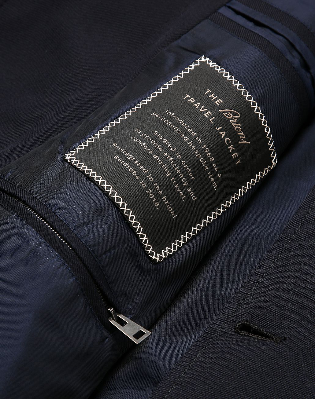 BRIONI Navy Blue Travel Jacket Formal Jacket [*** pickupInStoreShippingNotGuaranteed_info ***] b