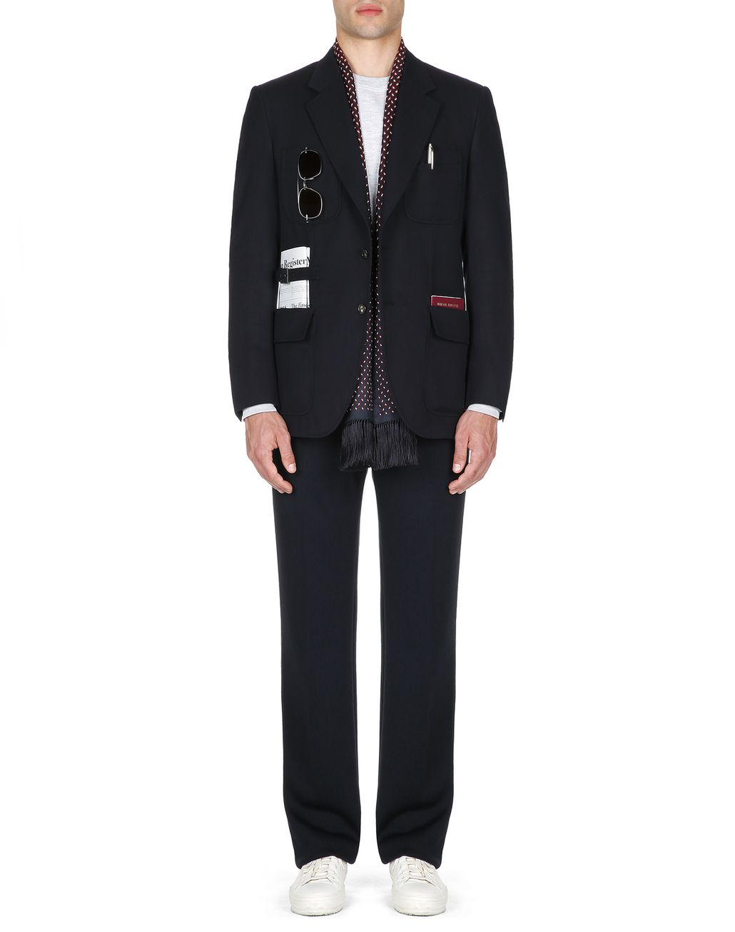 BRIONI Navy Blue Travel Jacket Formal Jacket Man r
