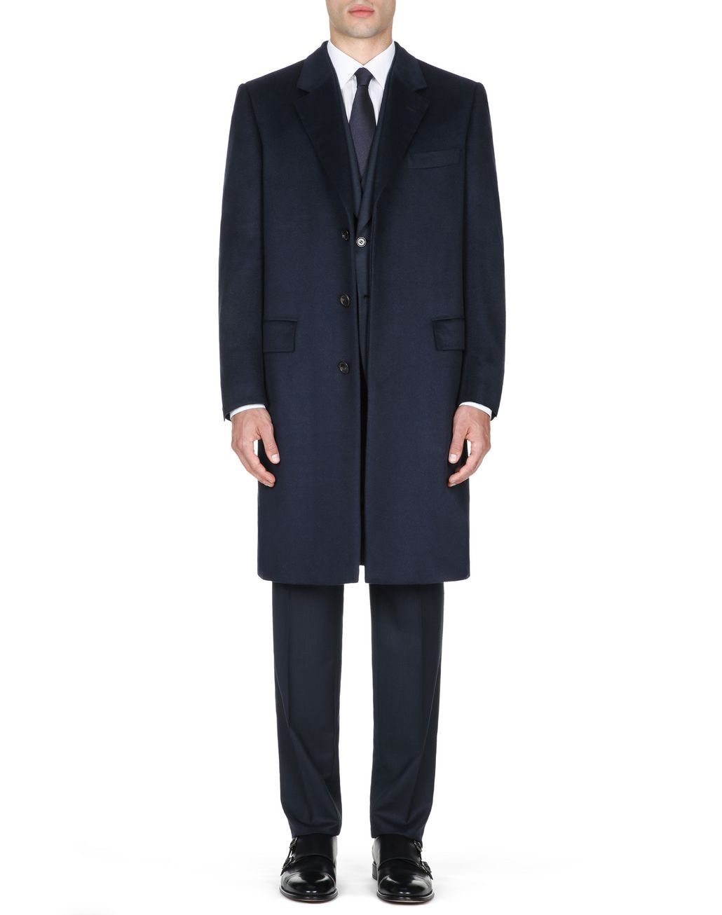 BRIONI Midnight Blue Priverno Coat Outerwear Man r