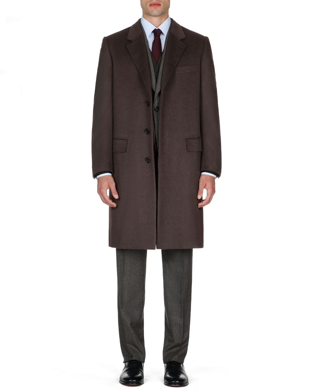 BRIONI Brown Priverno Coat Outerwear Man r