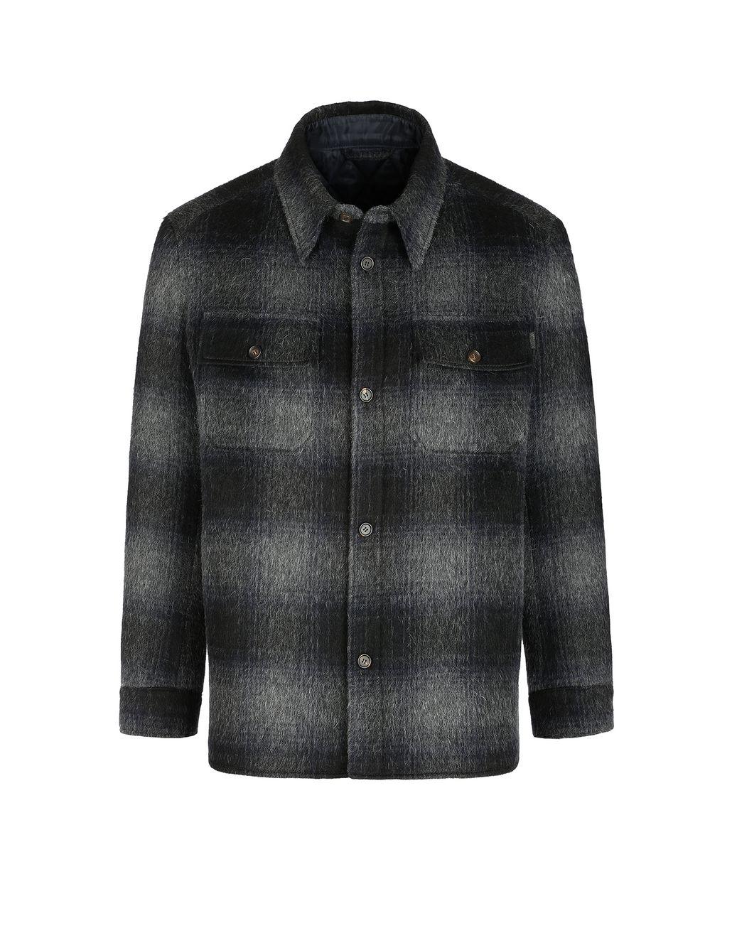 BRIONI Канадская куртка антрацитового цвета Верхняя одежда Для Мужчин f
