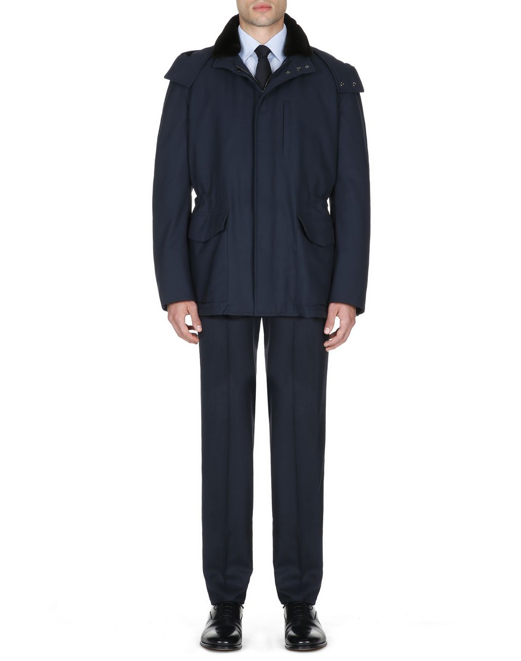BRIONI Midnight Blue Field Jacket Outerwear Man r