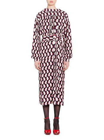 Marni Dress in sablè viscose Banner print Woman