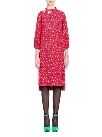 Marni Dress in sablè viscose Dream print Woman
