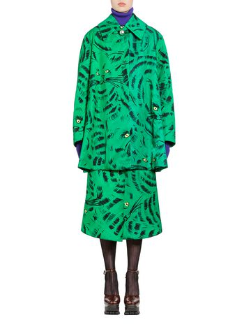 Marni Jacket in nylon twill with Hop print Woman
