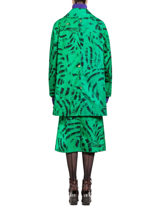 Marni Jacket in nylon twill with Hop print Woman
