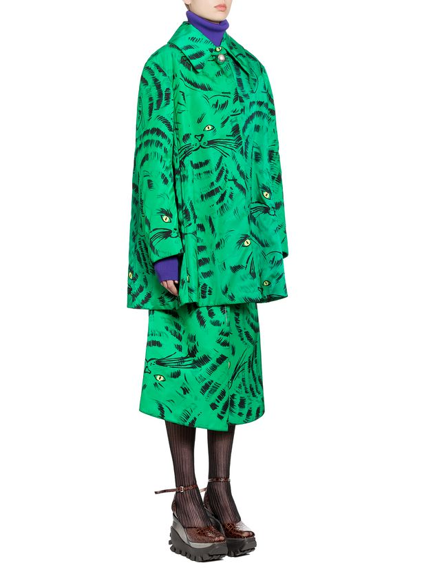 Marni Jacket in nylon twill with Hop print Woman - 4