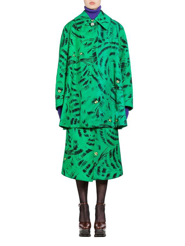 Marni Jacket in nylon twill with Hop print Woman - 1