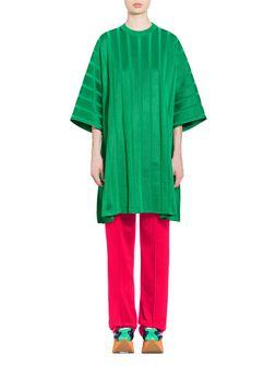Marni Half-sleeve tunic in viscose and nylon Woman