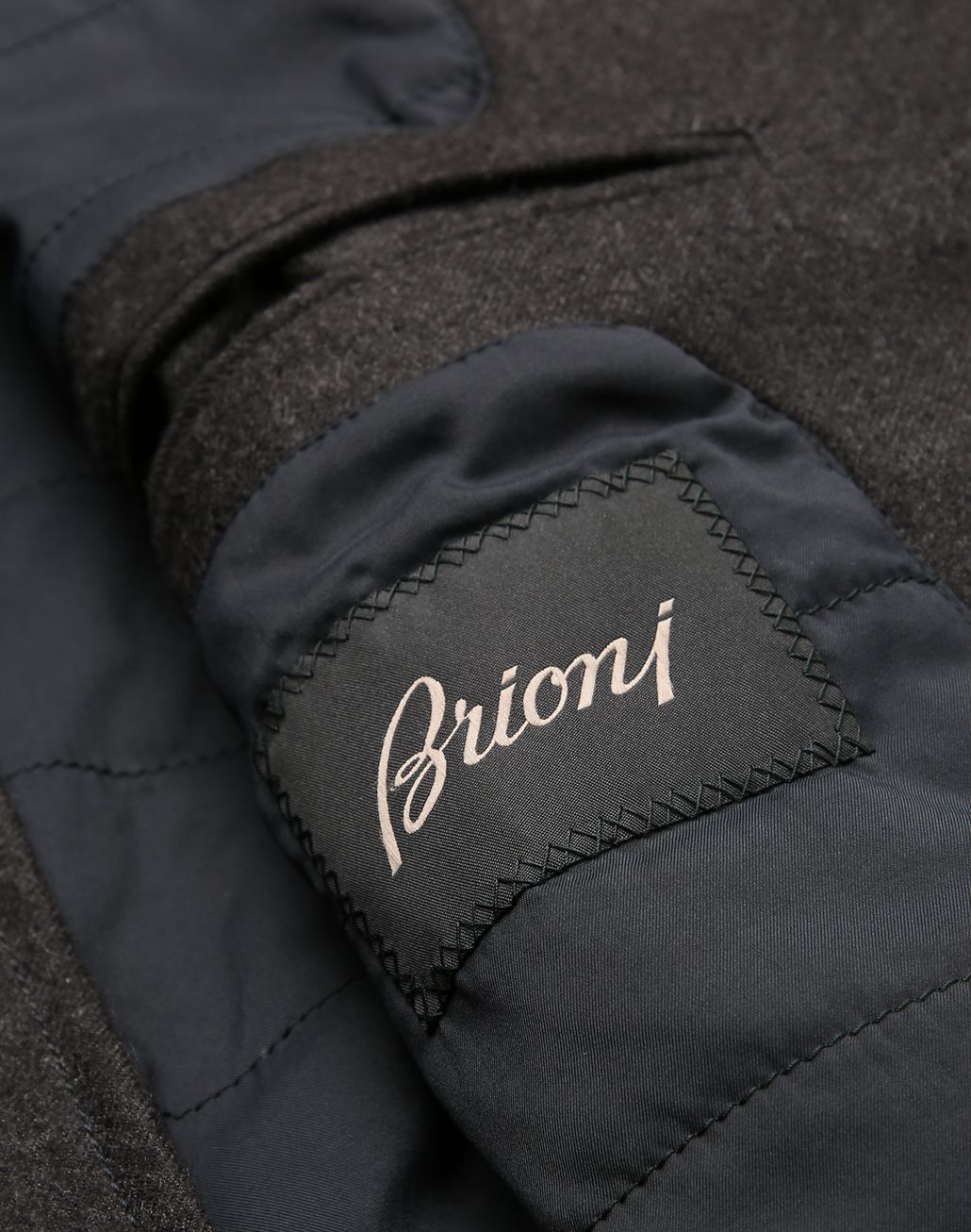 BRIONI Anthracite Field Jacket Coats & Raincoats Man b