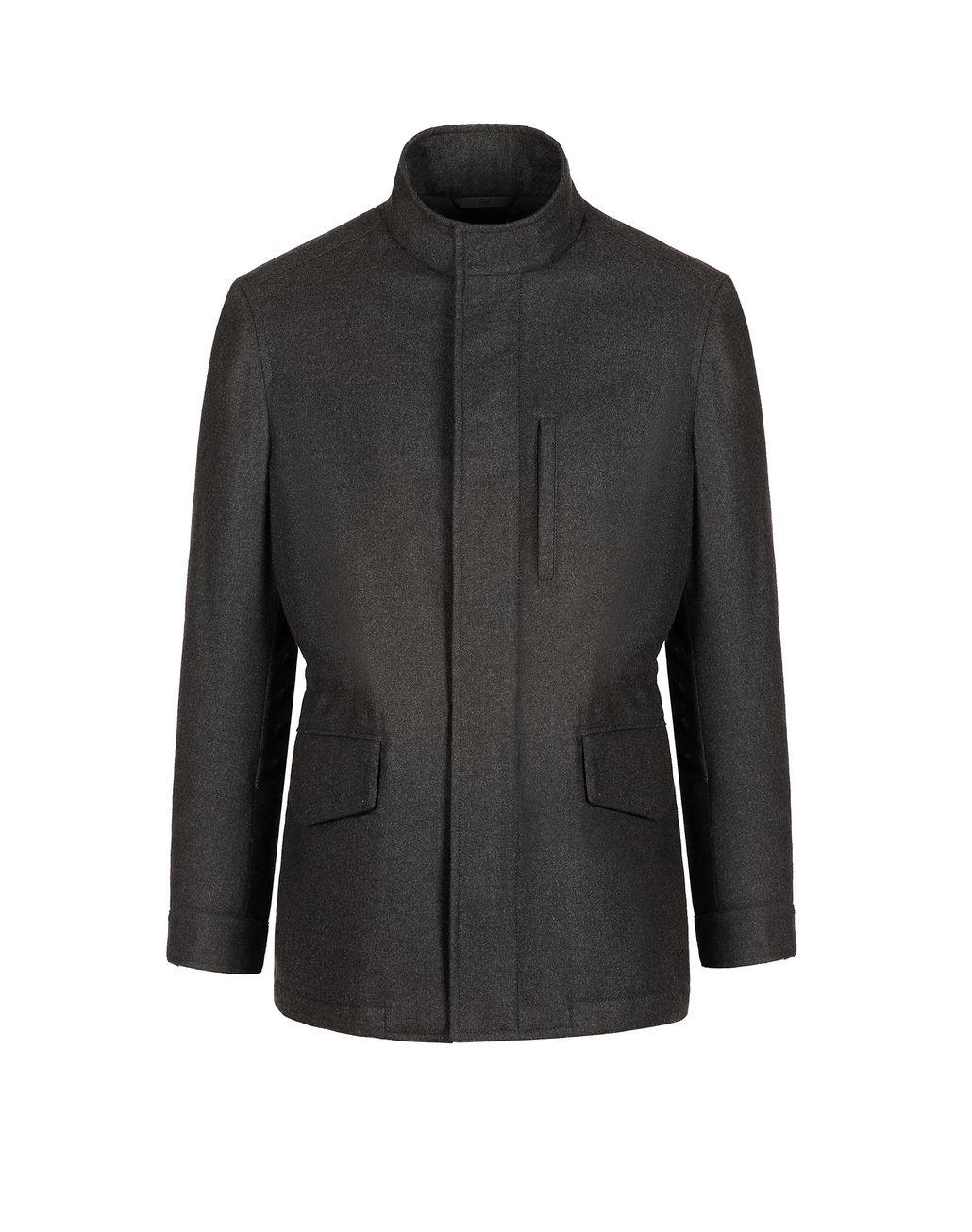 BRIONI Полевая куртка антрацитового цвета Пальто и плащи Для Мужчин f