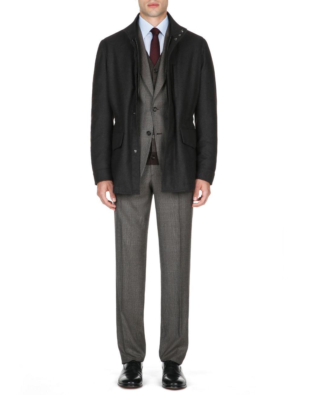 BRIONI Полевая куртка антрацитового цвета Пальто и плащи [*** pickupInStoreShippingNotGuaranteed_info ***] r