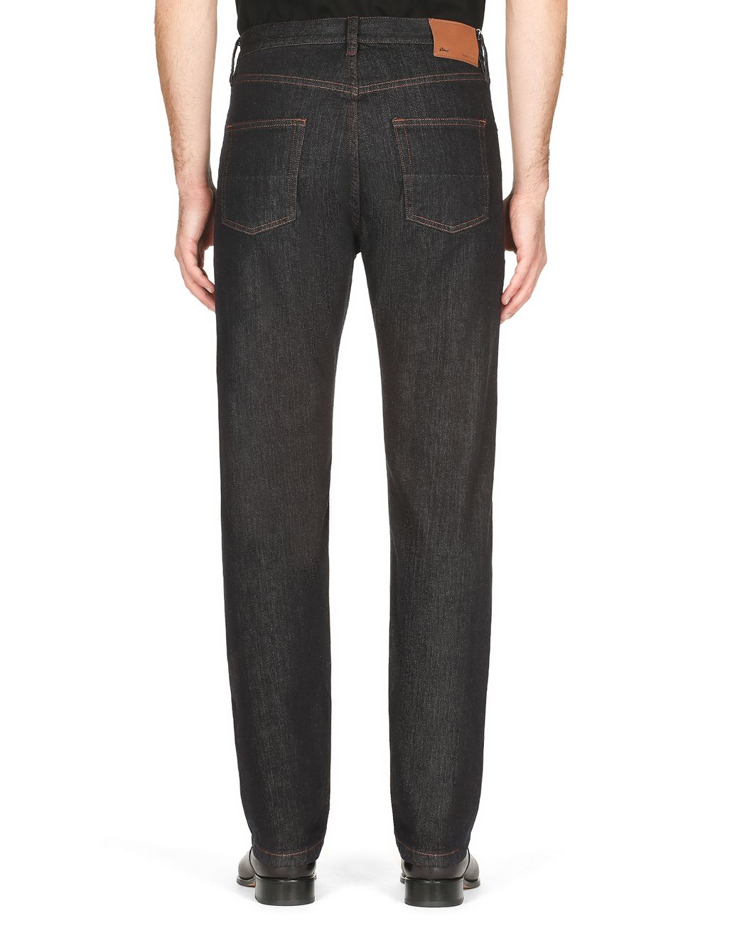 BRIONI Dark Blue Jeans Denim Man d