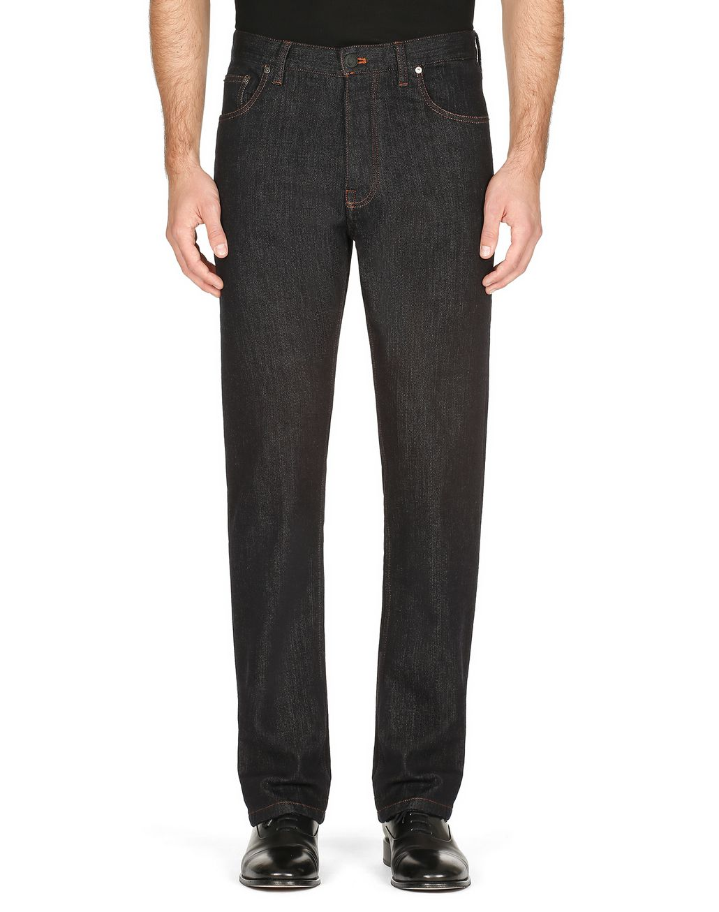BRIONI Dark Blue Jeans Denim Man r