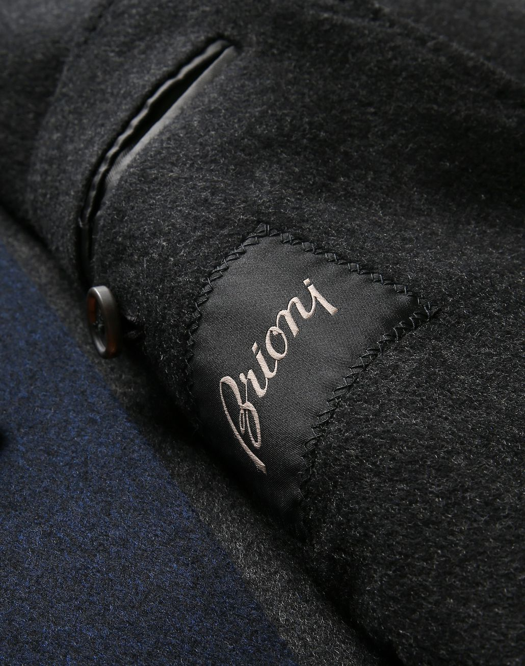 BRIONI Navy Blue Coat Coats & Raincoats [*** pickupInStoreShippingNotGuaranteed_info ***] d