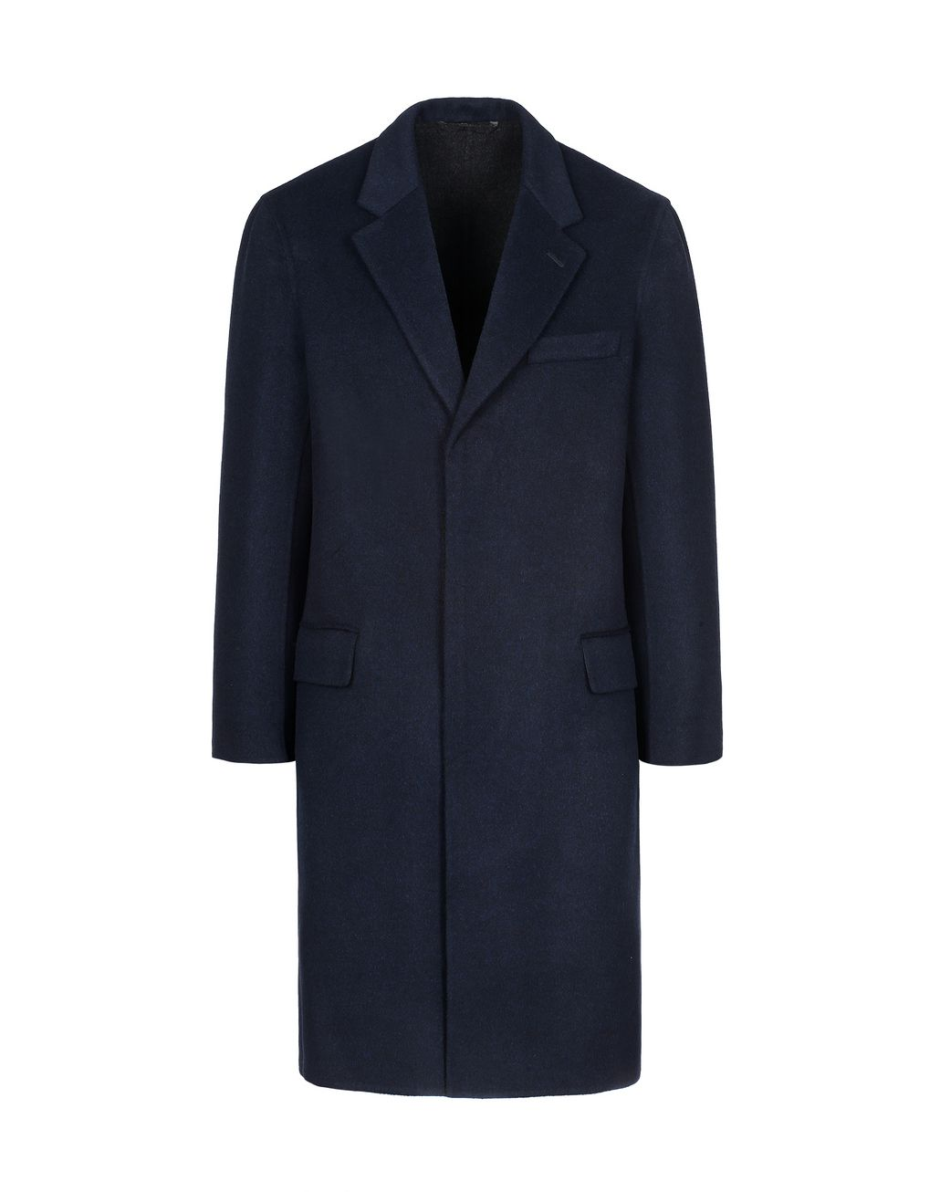 BRIONI Navy Blue Coat Coats & Raincoats Man f
