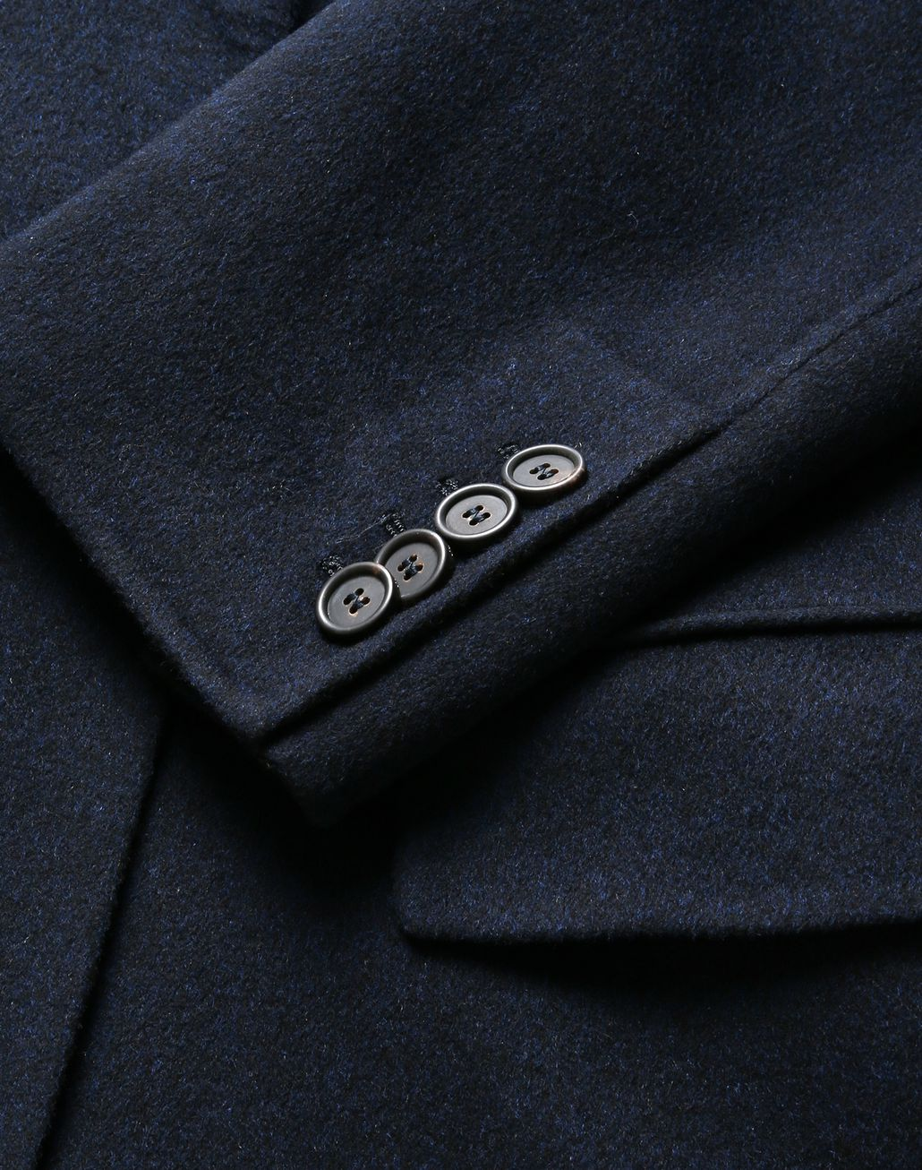 BRIONI Navy Blue Coat Coats & Raincoats Man r