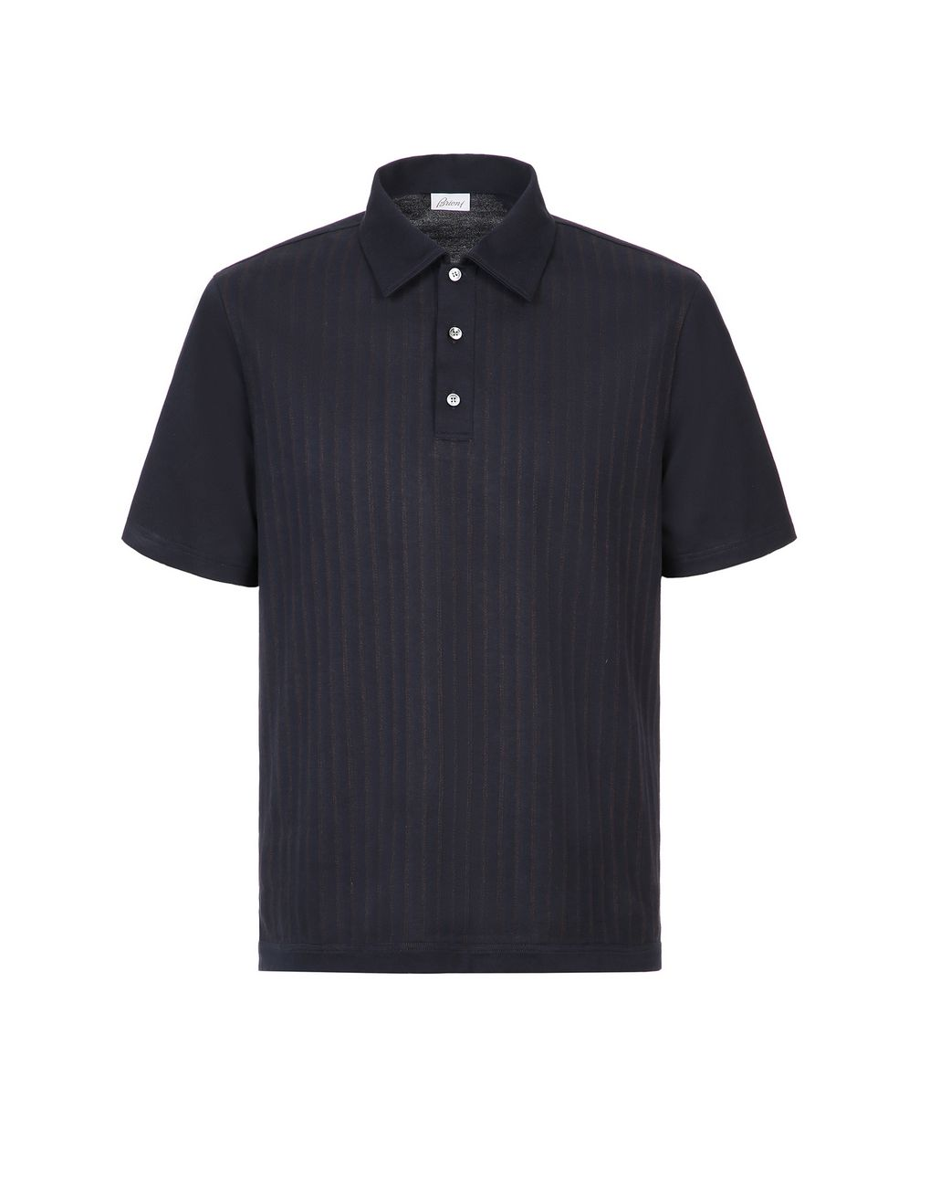BRIONI Navy Blue Striped Polo Shirt T-Shirts & Polos Man f