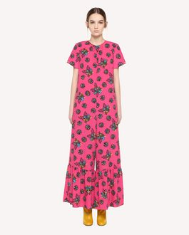 REDValentino Marocain jumpsuit with Bright Flowers print