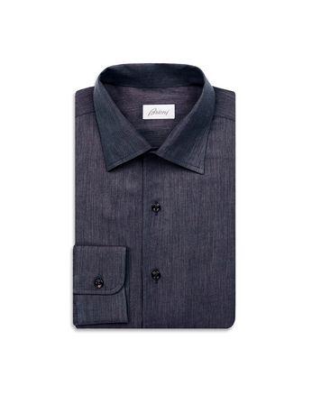Тёмно-синяя рубашка узкого кроя