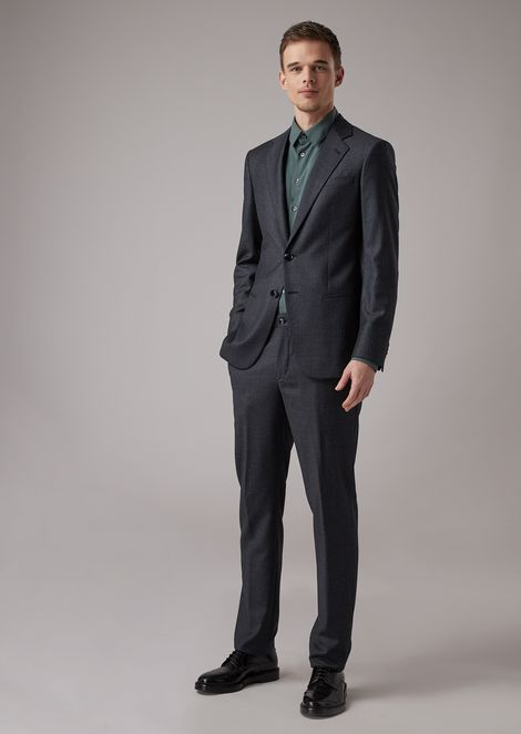 ef80301d9659 Slim-fit Soho line patterned tuxedo jacket in sable wool blend wool