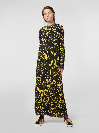 Marni Dress in sablé viscose with Danna print Woman