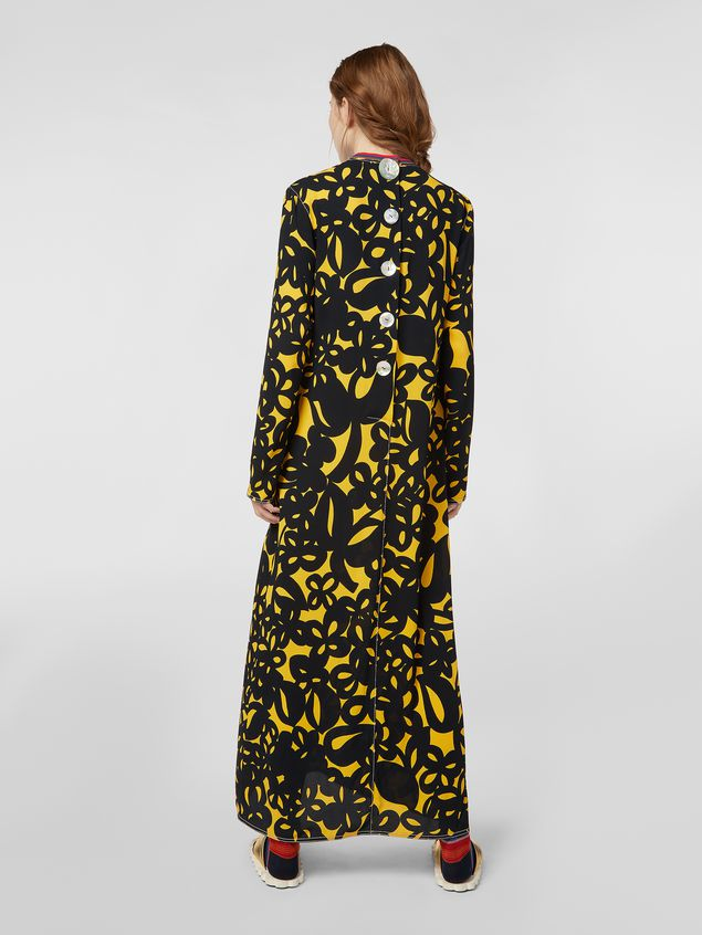 Marni Dress in sablé viscose with Danna print Woman