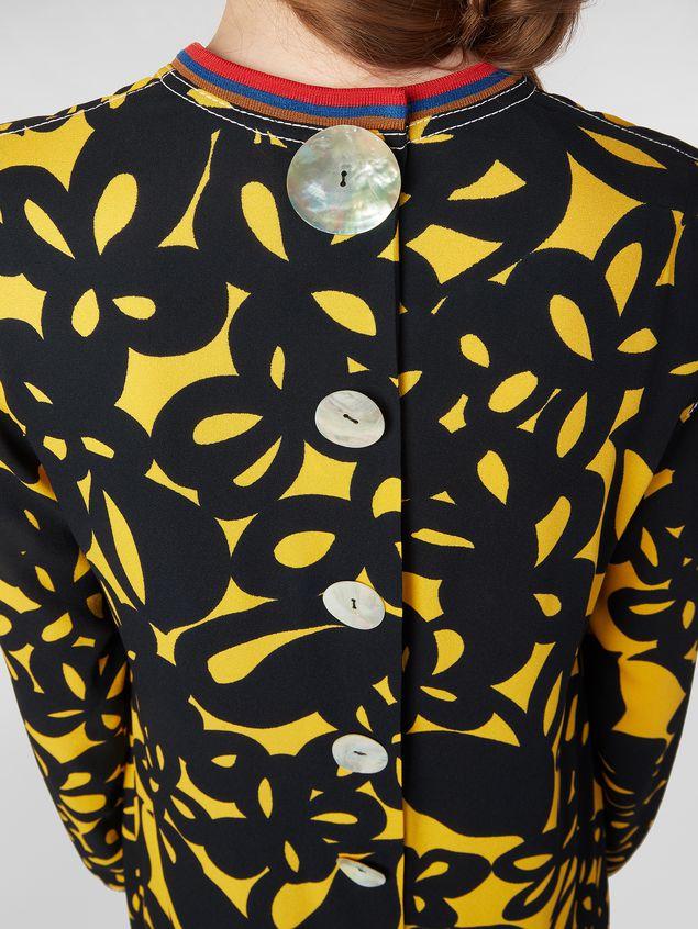 Marni Dress in sablé viscose with Danna print Woman - 5